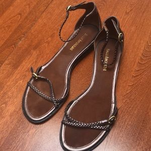 Enzo Agngolini Bronze leather Sandals
